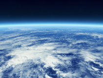 Clouds from Space stock illustration