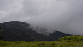 Clouds Spilling Over Roan Mountain stock video