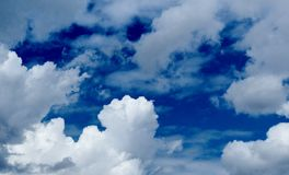 Clouds in the spring sky Stock Images