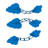 Clouds and stairs. Illustration in vector format Stock Photo