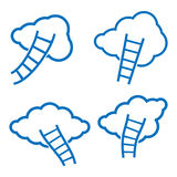 Clouds and stairs. Illustration in vector format Royalty Free Stock Photos