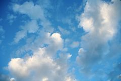Clouds and star Royalty Free Stock Photography