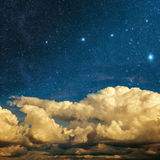 Clouds and stars Stock Photography