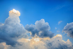 Clouds before storm Stock Image