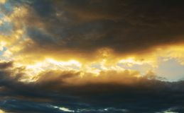 Clouds and storm Royalty Free Stock Images