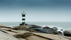 Lighthouse by the sea stock video footage