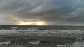 clouds stormigt Royaltyfri Fotografi