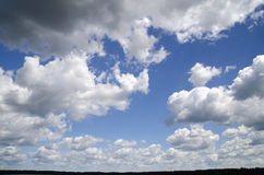 Clouds in the stormy sky. Natural wallpaper background, high resolution photo Royalty Free Stock Images