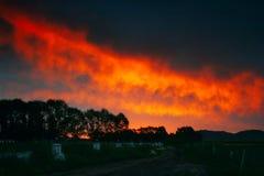 clouds strålningssoluppgång Royaltyfria Bilder