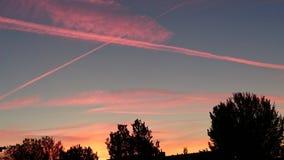 Clouds Straelen. Niederrhein Stock Image