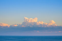 Clouds. Strange Clouds Over The Black Sea Royalty Free Stock Photos