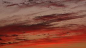 Clouds stretch sunset timelapse. Video of clouds stretch sunset timelapse stock video