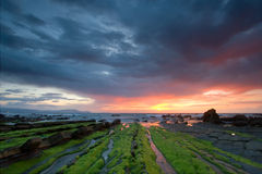 Clouds of strom in Barrika Royalty Free Stock Images