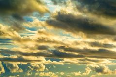 Clouds with strong wind in sky Stock Image