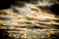 Clouds with strong wind in sky Stock Photography