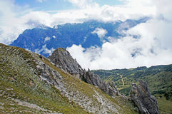 Clouds in the Stubai Valley Stock Photo