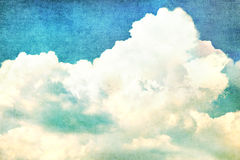 Clouds in summer blue sky - vintage Stock Photos