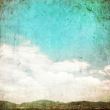 Clouds in summer blue sky - vintage Royalty Free Stock Image