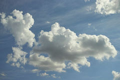 Clouds on the summer sky Royalty Free Stock Photography