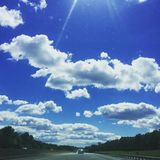 Summers Day in Kentucky. Clouds on a summers day in Grant County Kentucky Stock Image