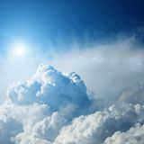Clouds with sun Royalty Free Stock Photography