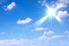 Clouds and sun Royalty Free Stock Photo