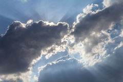 Clouds and sun Royalty Free Stock Photos