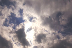 Clouds. The sun between the clouds Royalty Free Stock Photos