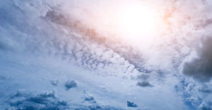 Clouds sun background Stock Photo