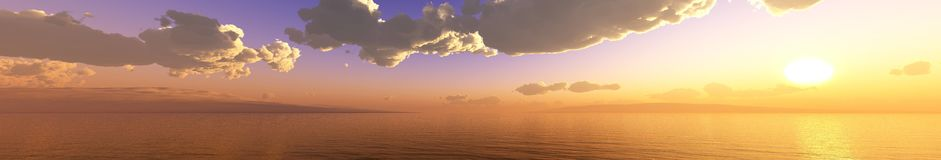 Clouds and sun, beautiful sky with clouds. And sun among them 3d rendering Stock Photos