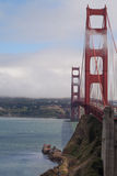 Clouds and Sun   Golden Gate Bridge Royalty Free Stock Image