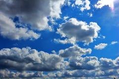 Clouds_Sun jpg Royalty-vrije Stock Afbeelding