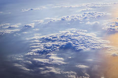 Clouds and sun over the skies of Europe Royalty Free Stock Photo