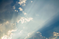 Clouds and sun ray Royalty Free Stock Photography