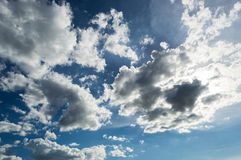 Clouds with sun rays Royalty Free Stock Photos