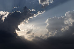 Clouds and sun rays Stock Images