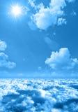 Clouds sun sky. Simple clouds and sun on the sky