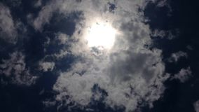 Clouds and sun time lapse stock video footage