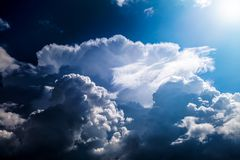 Clouds and Sunlight Royalty Free Stock Photography