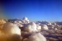 Clouds on a Sunny Day 1. Clouds as seen from above on a beautiful sunny day over California stock photos