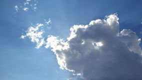 Clouds on sunny day stock footage
