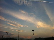 Clouds. Sunrise seen from Torino Airport Royalty Free Stock Photos
