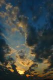 Clouds and Sunset. Low angle view of a cloudy sky before the sunset royalty free stock images