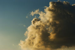 Clouds at sunset. Photo of clouds which i made sitting on the tree Royalty Free Stock Image