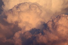 Clouds at sunset. Also looking like smoke royalty free stock image