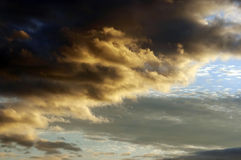 Clouds at sunset Royalty Free Stock Photo