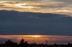 clouds sunset Στοκ φωτογραφία με δικαίωμα ελεύθερης χρήσης
