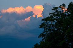 Clouds at Sunset Stock Photos