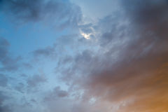 Clouds at sunset as background Royalty Free Stock Photo