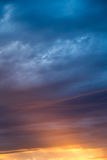 Clouds at sunset as background Royalty Free Stock Images